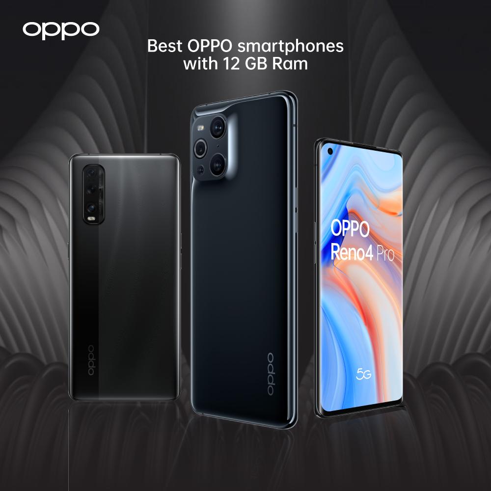 OPPO Smartphones with 12 GB Ram