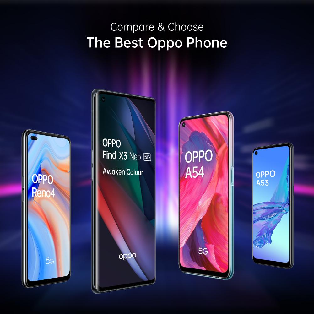 OPPO Compare Mobile Phones Specs, Prices