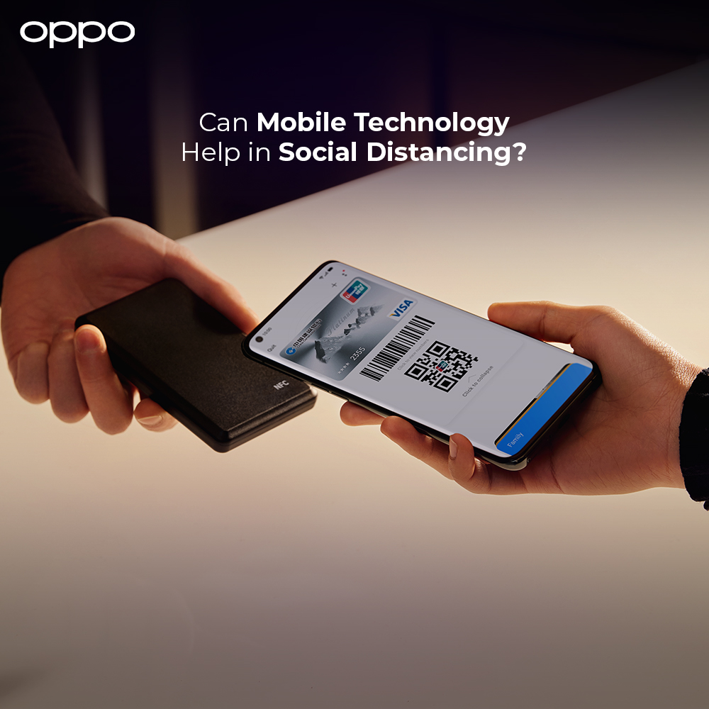 OPPO mobiles helps people in Social Distancing